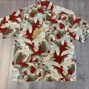 NWT Jamaica Jaxx Men's Floral Hawaiian Silk Shirt